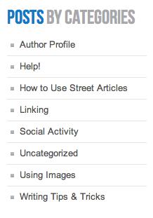 Street Articles Blog